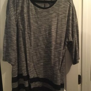 Tops - Black And Gray Top - Cute
